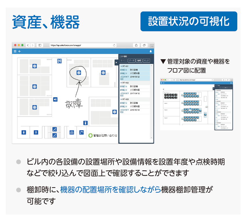 Smappi活用例 資産・機器管理データ視覚化