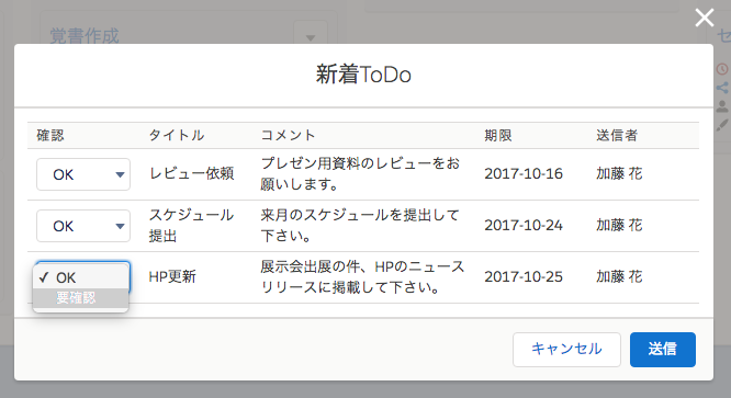 新着ToDo